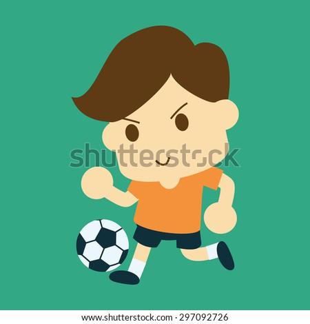 football player - stock vector