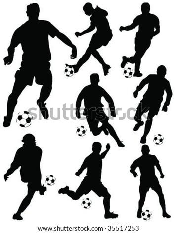 football player vector 2 - stock vector
