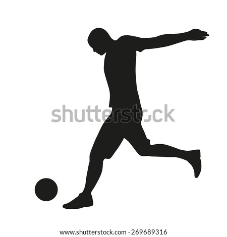 Football player vector silhouette - stock vector