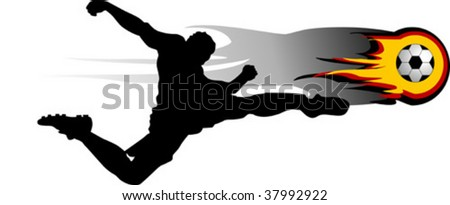 football players attack gate of the opponent; - stock vector