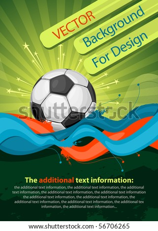 Football poster (background for design) - stock vector