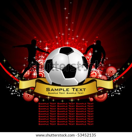 Football poster place for your text - stock vector