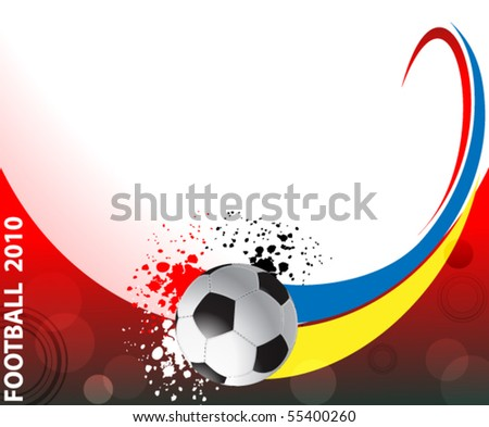 football poster with soccer balls, eps10 format - stock vector