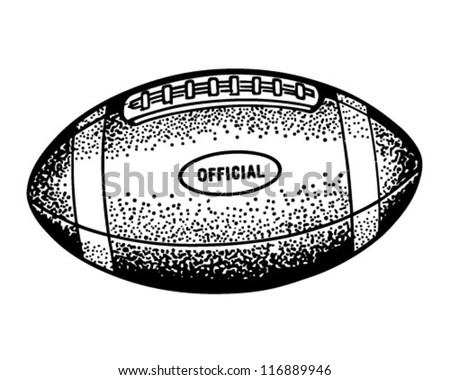 Football - Retro Clipart Illustration - stock vector
