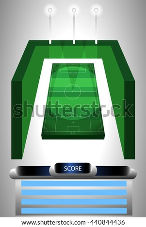 football score - stock vector