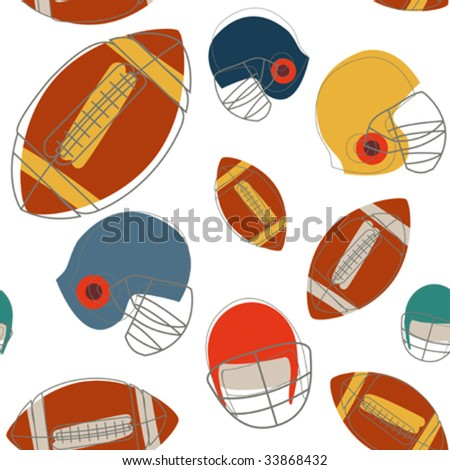 football seamless pattern - stock vector