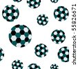 football seamless pattern, abstract texture; vector art illustration - stock photo