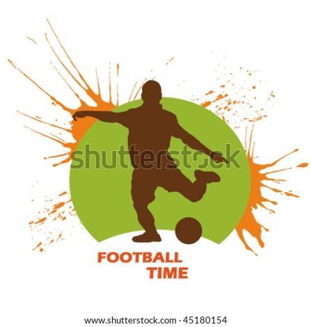 football sign - stock vector