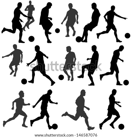 football silhouette vector