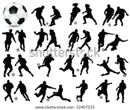 football silhouette 2-vector