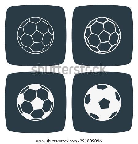 Football Soccer Ball Icon - stock vector