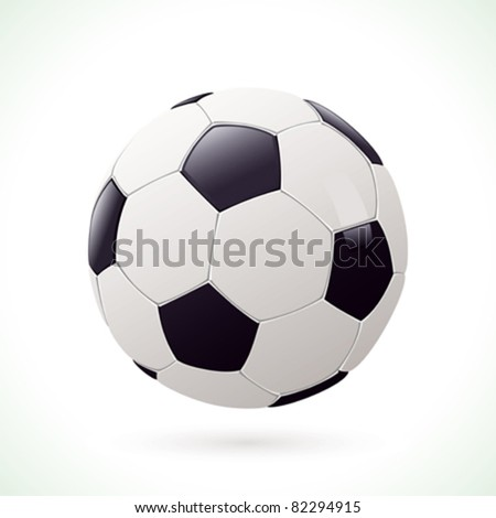 Football / soccer ball isolated on white background - stock vector