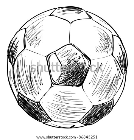 Football soccer ball sketch vector illustration - stock vector