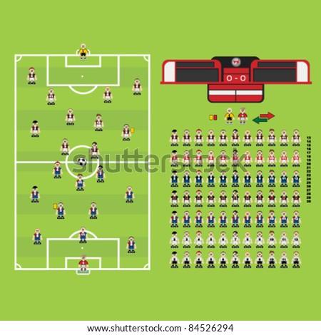 Football Soccer Collection Set - stock vector