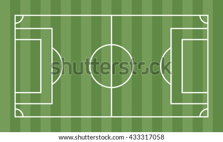 football soccer field vector template your stock vector 433317058