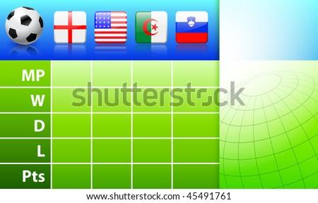 Football/soccer 2010 Group C  Original Vector Illustration EPS10 - stock vector