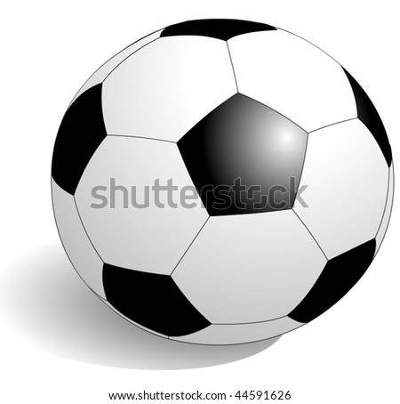 football, soccer in vector art