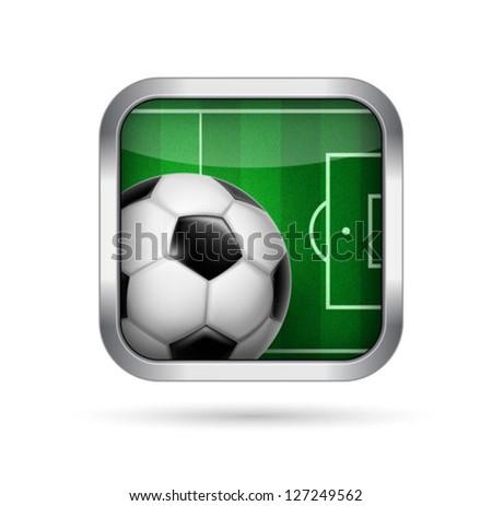 football soccer - sport application icon - vector - stock vector