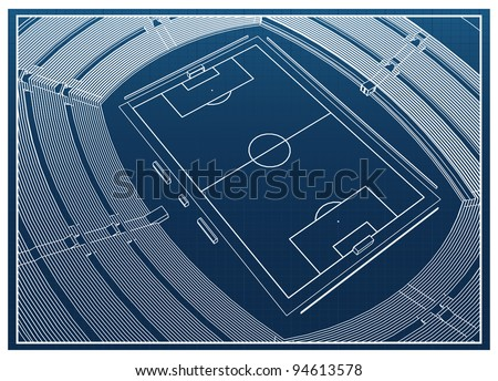 Football - soccer stadium - stock vector