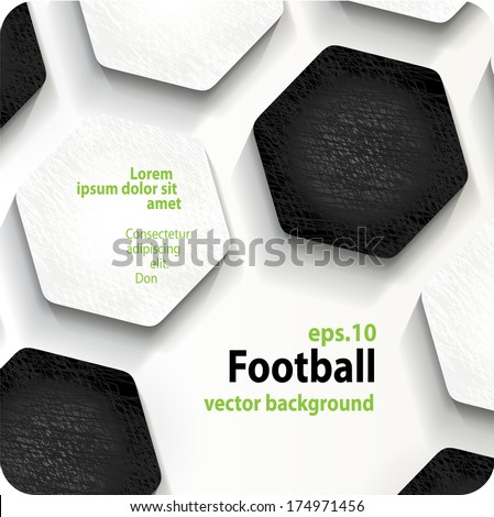 football (soccer) vector background, cover. Eps10. - stock vector