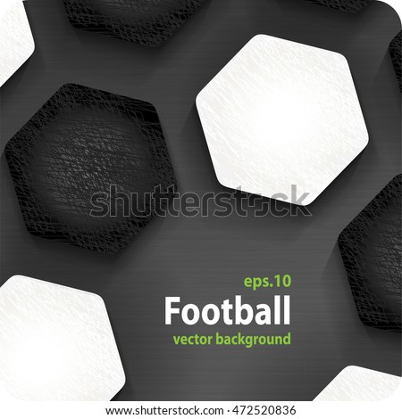 football (soccer) vector background, cover. Eps10.