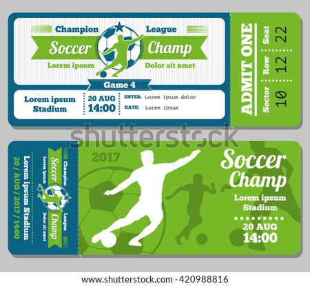 Sports Ticket Images RoyaltyFree Images Vectors – Sports Ticket Template