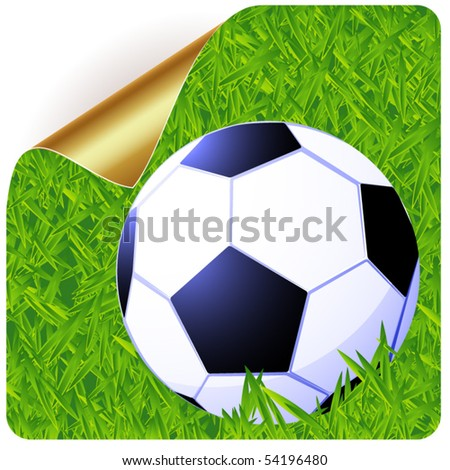 Football sticker. Vector. - stock vector