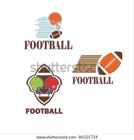 football symbol. American football. vector - stock vector