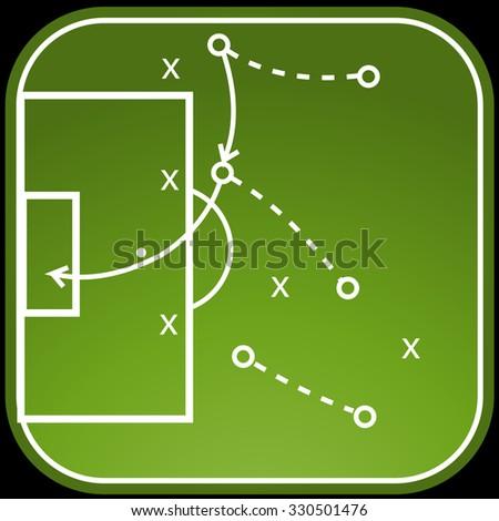 Football tactics board - stock vector