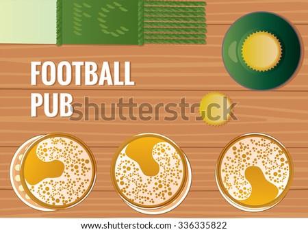 Football, team game - stock vector