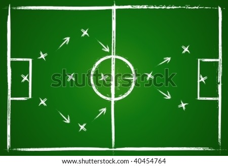 Football teamwork strategy. - stock vector