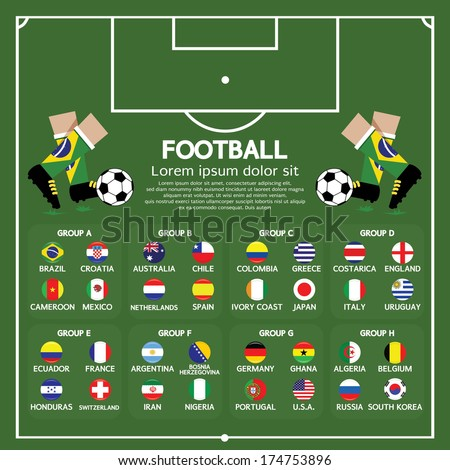 Football Tournament Chart - stock vector