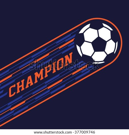 Football typography, t-shirt graphics, vectors - stock vector