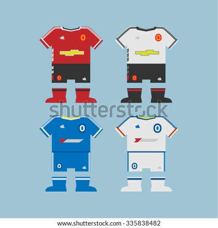 football uniform - stock vector