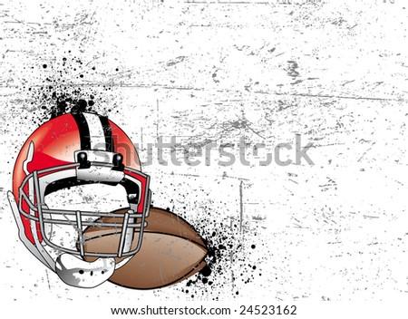 football vector background - stock vector