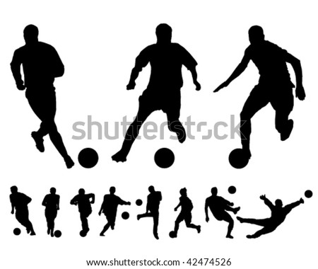 Football vectors - stock vector