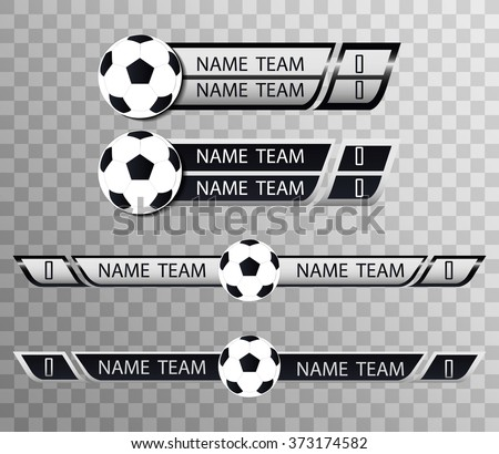 Football Versus Logo. Soccer VS Vector Letters Illustration. Competition Icon. Fight Symbol. - stock vector