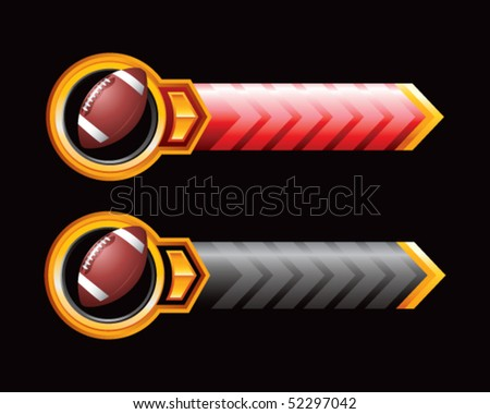 footballs red and black arrows