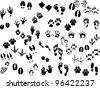 footprint - stock vector