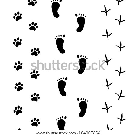 Footprint on white - Vector - stock vector
