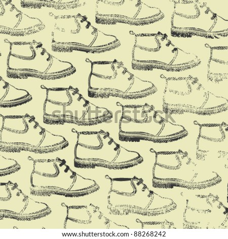 Footwear design paper for packing - stock vector