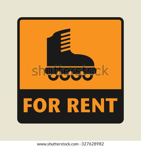 For Rent icon or sign, vector illustration - stock vector