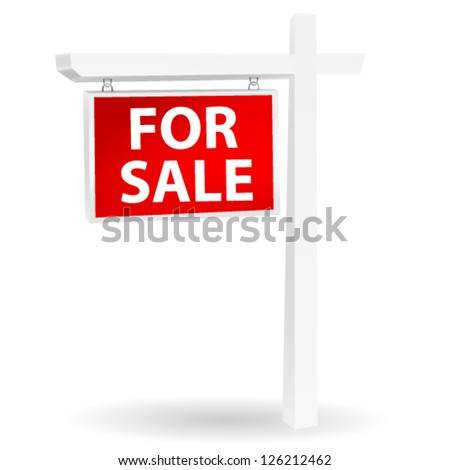 For sale sign - stock vector