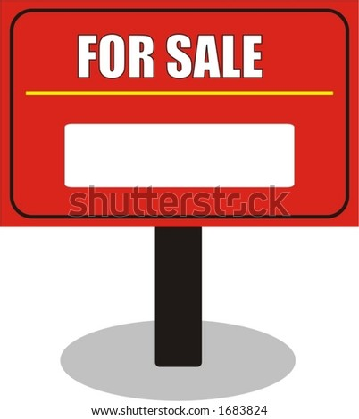 for sale, vector illustration - stock vector