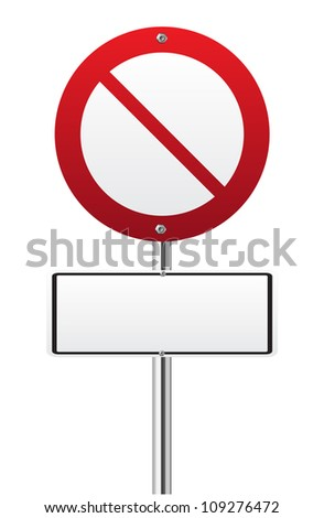 Forbidden sign on white background - stock vector