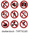 forbidden sign set - stock photo