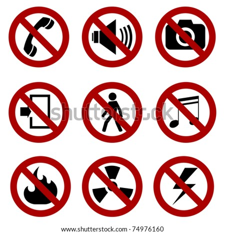 forbidden sign set