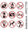 Forbidden signs-vector - stock vector