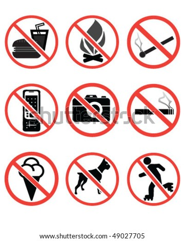 Forbidden signs-vector