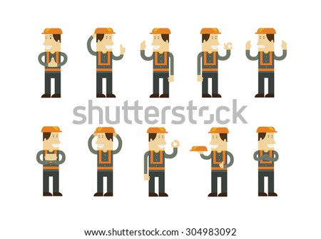 foreman character - stock vector